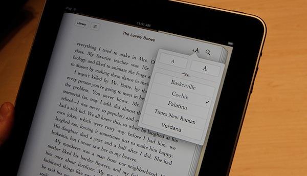 Un iPad lors de la lecture d'un eBook