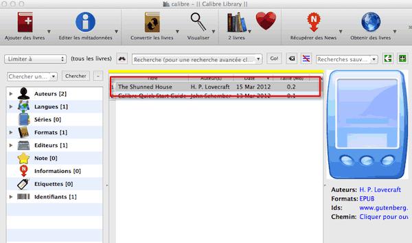 Drag'n Drop Calibre pour ajout de fichiers