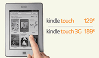 Kindle Touch en France