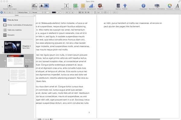 Ajout de texte dans iBook Author