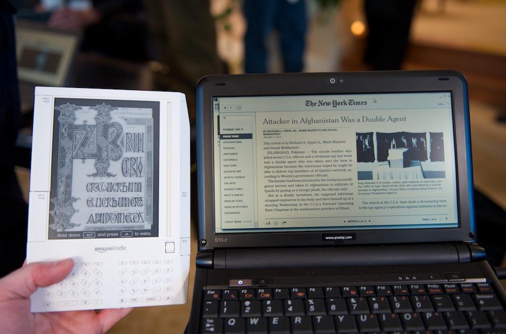 Pixel Qi contre Kindle