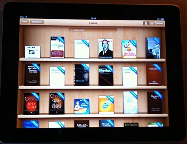 Livres en mode paysage dans iBooks