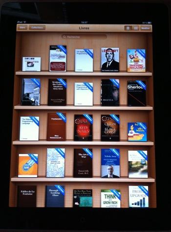 Les livres en mode portrait dans iBooks
