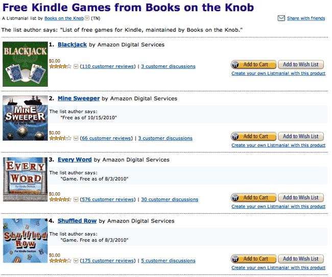 Jeux Kindle gratuits