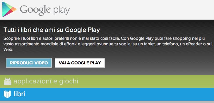 Les services Google Play Italie