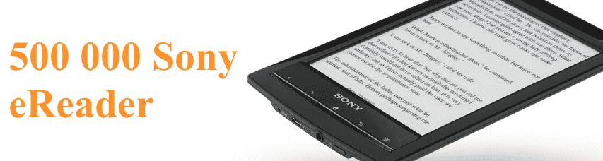 Sony eReader et 500 000 ventes en Europe