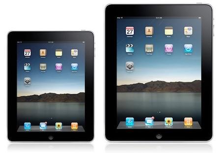 l'iPad Mini a côté d'un iPad de taille normale