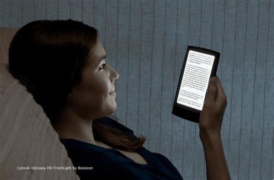 Un illustration de la future liseuse de Bookeen avec lumière intégrée