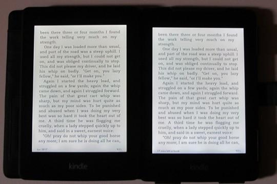 Comparaison écran Kindle Paperwhite