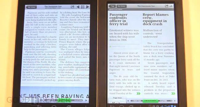 comparaison vidéo tablette 7 pouces