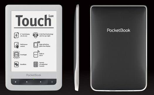 PocketBook touch lux liseuse écran éclairé