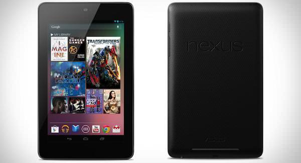 Nouveau Nexus 7 de Google et Asus