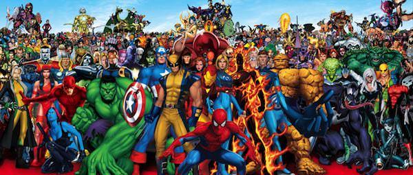 les héros du monde Marvel