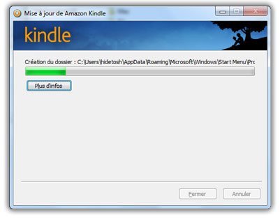 les livres Kindle sur Windows