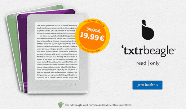 txtr beagle 19 euros