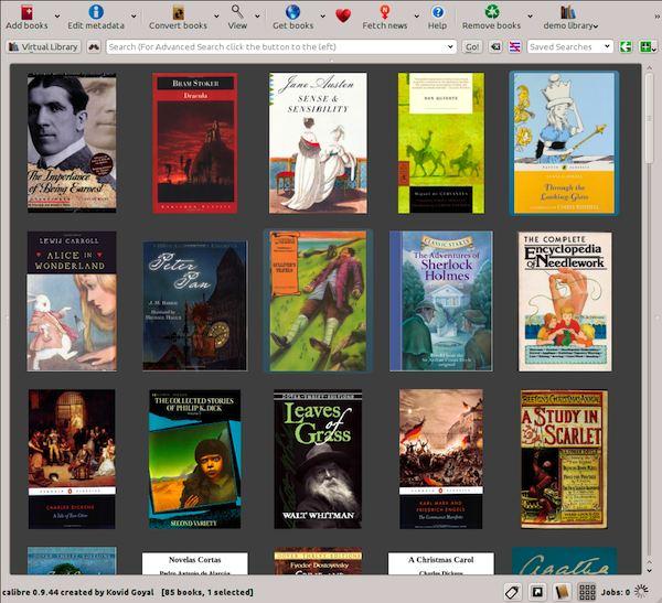 Calibre affichage de la grille des ebooks (couvertures)