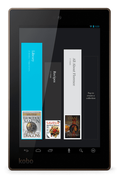 collection livres sur tablette Kobo