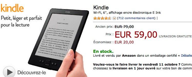 Kindle 59 euros
