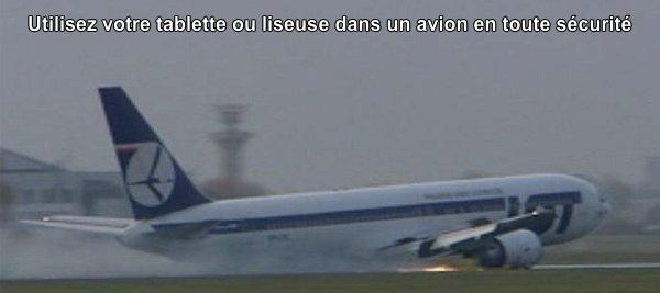 tablette liseuse avion