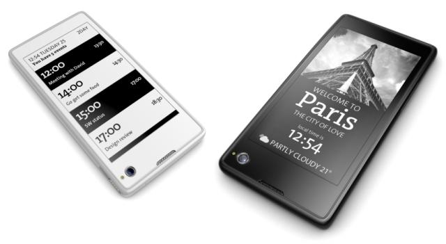 Smartphone yota encre électronique e-ink
