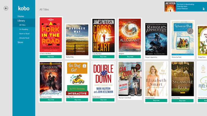 Kobo for Windows 8