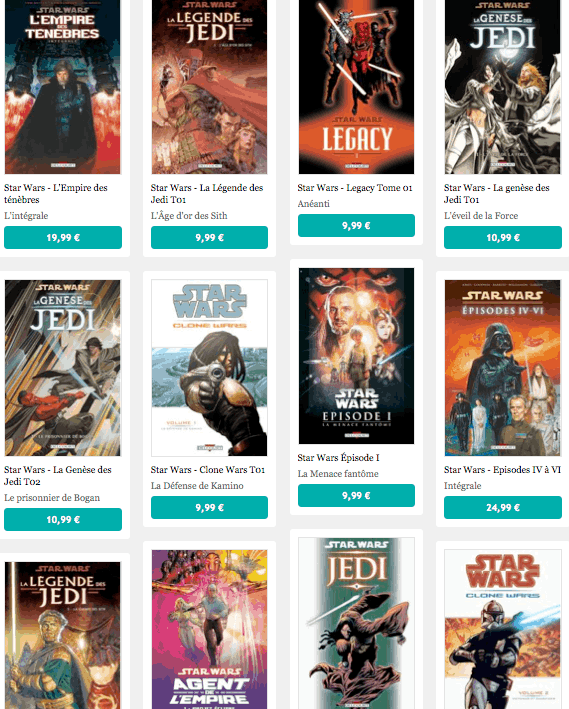 Les BD Star Wars au format numérique et en français