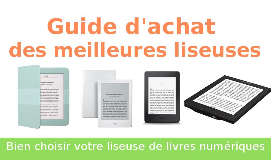 guide d'achat des liseuses d'ebooks
