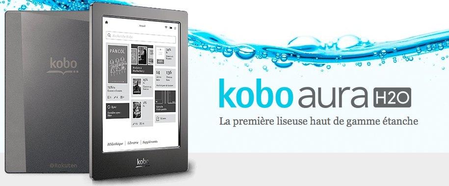 Liseuse Kobo aura H2O