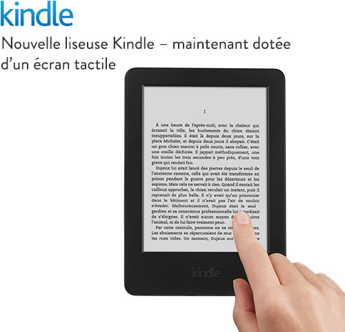 Liseuse Kindle tactile