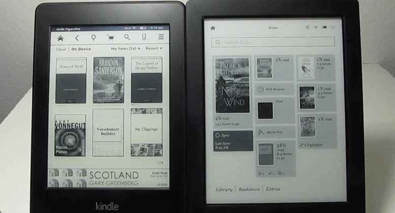 kindle-paperwhite-contre-kobo-aura-h2o