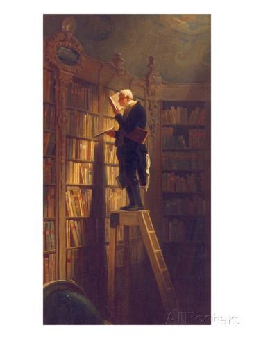 Carl Spitzweg : le rat de bibliotheque (vers 1850)