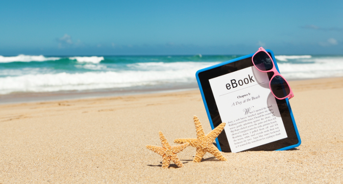 Beach-and-eBook