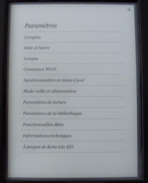 Kobo-Glo-HD-parametres
