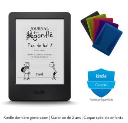 Pack Kindle pour les enfants avec coque de protection et garantie