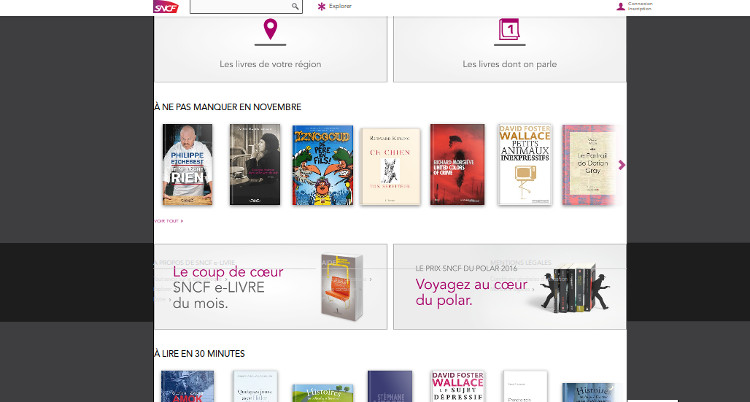 catalogue sur le site e-livre sncf