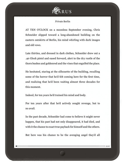 Icarus Illumina XL 8 : grande liseuse écran 8 pouces