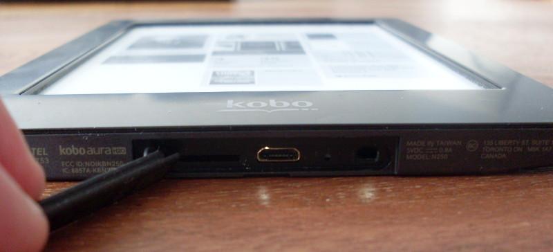Kobo Aura H2O cache USB