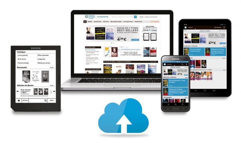 La librairie numérique d'ebooks de Leclerc et Bookeen
