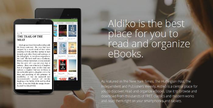 Aldiko : un logiciel de lecture d'ebook sur smartphone Android
