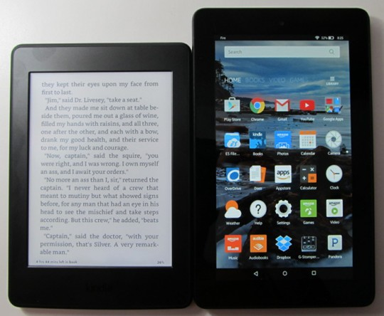 Comparaison : Kindle Paperwhite contre tablette Fire
