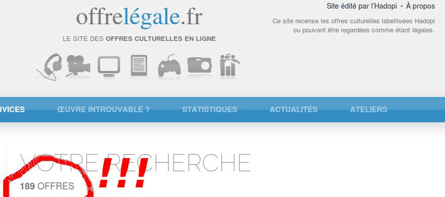 recherche d'ebook sur offrelegale.fr