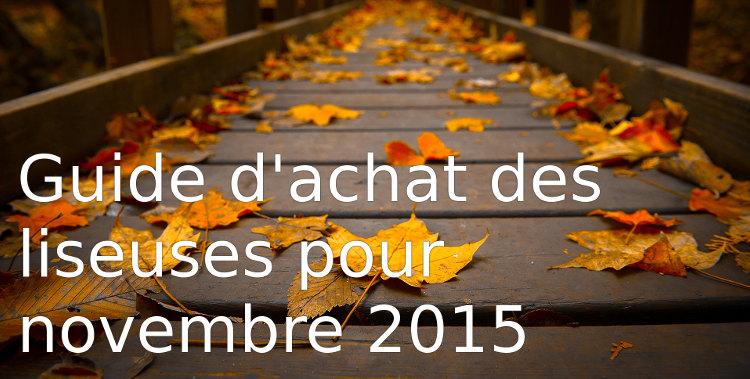uided 'achat des liseuses pour novembre 2015