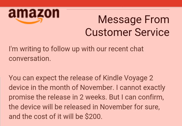 Amazon annonce un Kindle Voyage 2