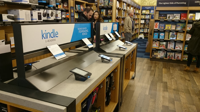 Magasin Amazon à Seattle : liseuses kindle
