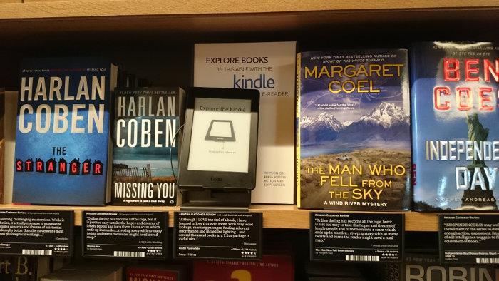Magasin Amazon de Seattle : livres
