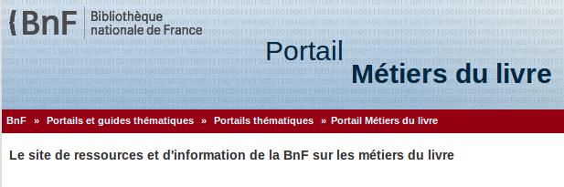 BnF : portail des métiers du livre