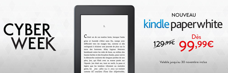 Kindle Paperwhite en promotion à 99€