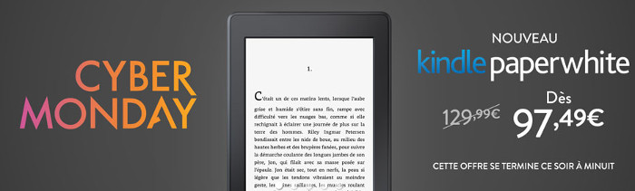 Promotion Kindle Paperwhite à 97,49 euros