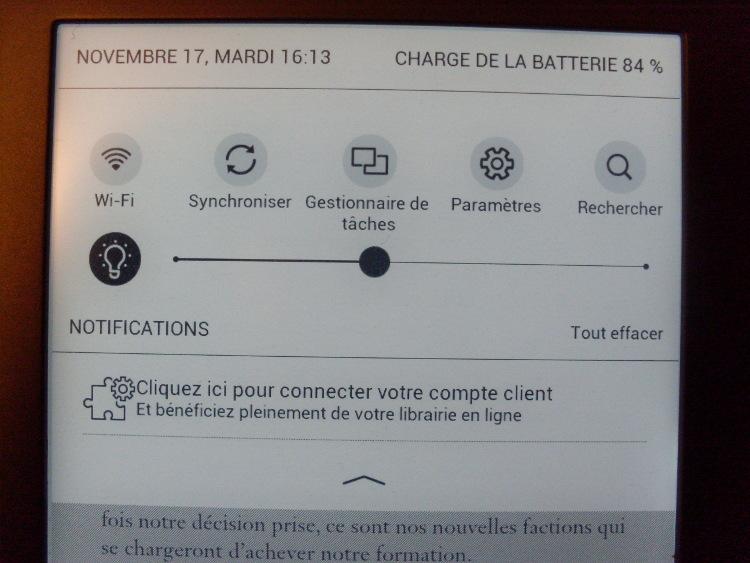 Liseuse Tea Touch Lux 3 : éclairage frontlight