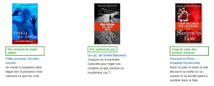 Amazon : prix de l'auto-édition gagnants
